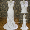 Thoracic perspective lace heavy bead back v-neck sexy wedding dress