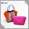 OEM factory brand ladies genuine leather handbags tote bag new with high quality