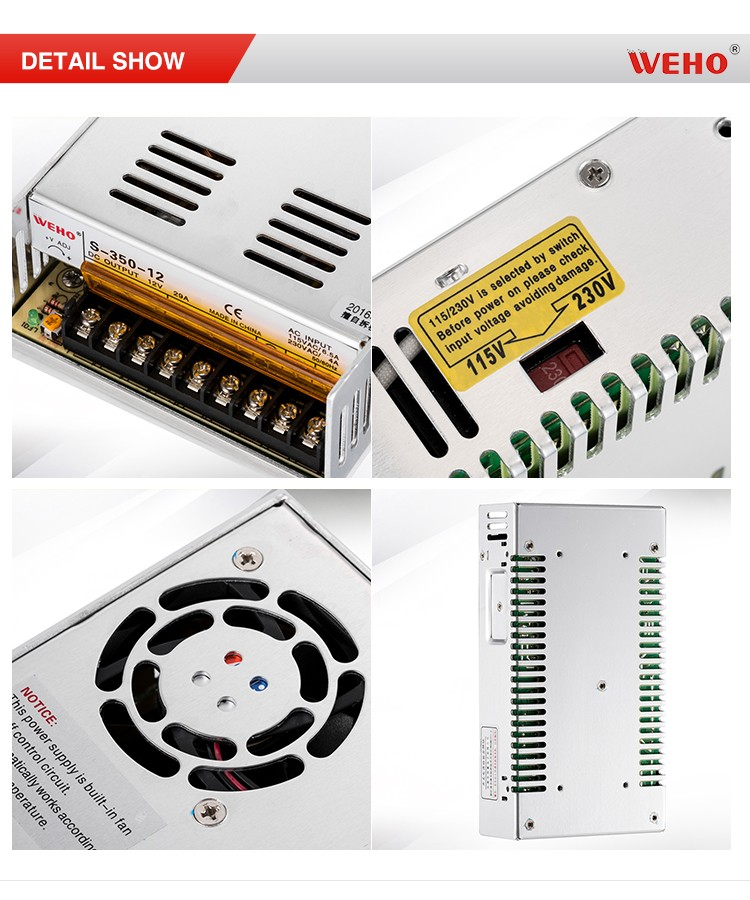 S-350-12 ac to dc led power supply, 12v 350w dc switching power supply