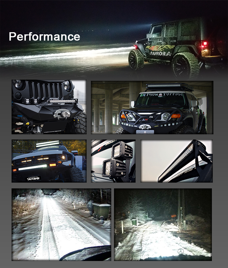 China 50 inch 288W 4x4 Led Car Light Curved Led Light bar Off road, Auto Led Light Arch Bent