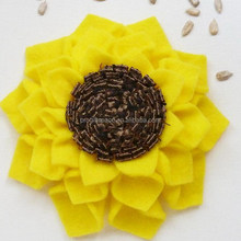2017 new fancy hot sale China product items fabric nice gifts hand made cheap decoration wholesale diy felt make sunflower craft