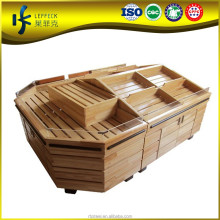 Hot Sale fruit supermarket wood shelves, heavy duty Style shelves, supermarket wood shelves