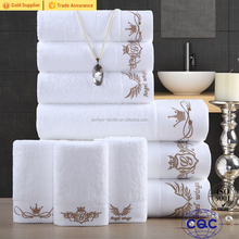 High Quality Towel bath set luxury hotel White Towel