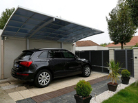 aluminum alloy frame car shelter carport with polycarbonate pc roof