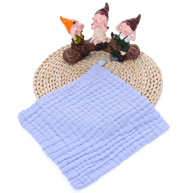 "12""<strong>x12</strong>"" Soft Cotton Face Towel 6 Layer organic muslin square face cloth Natural Baby Wash Cloth"