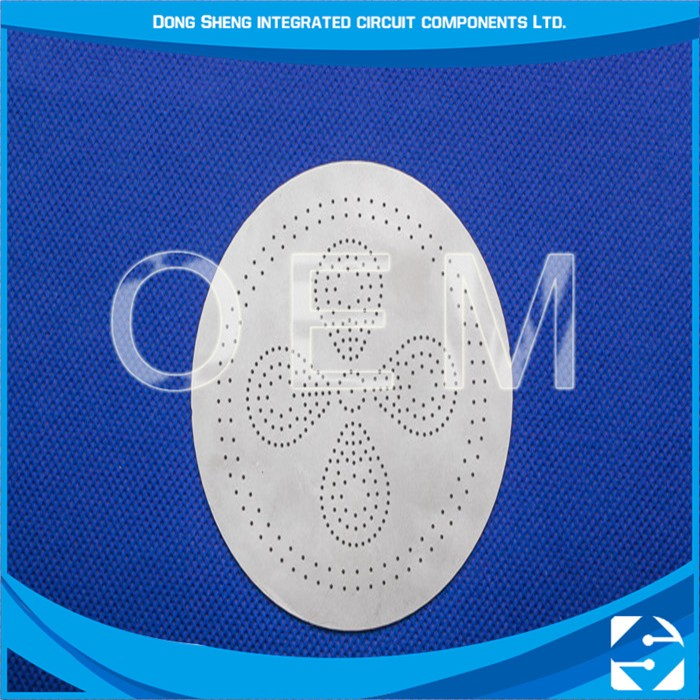 High quality oem aluminum plate photo chemical etching Copper Rain Shower Head
