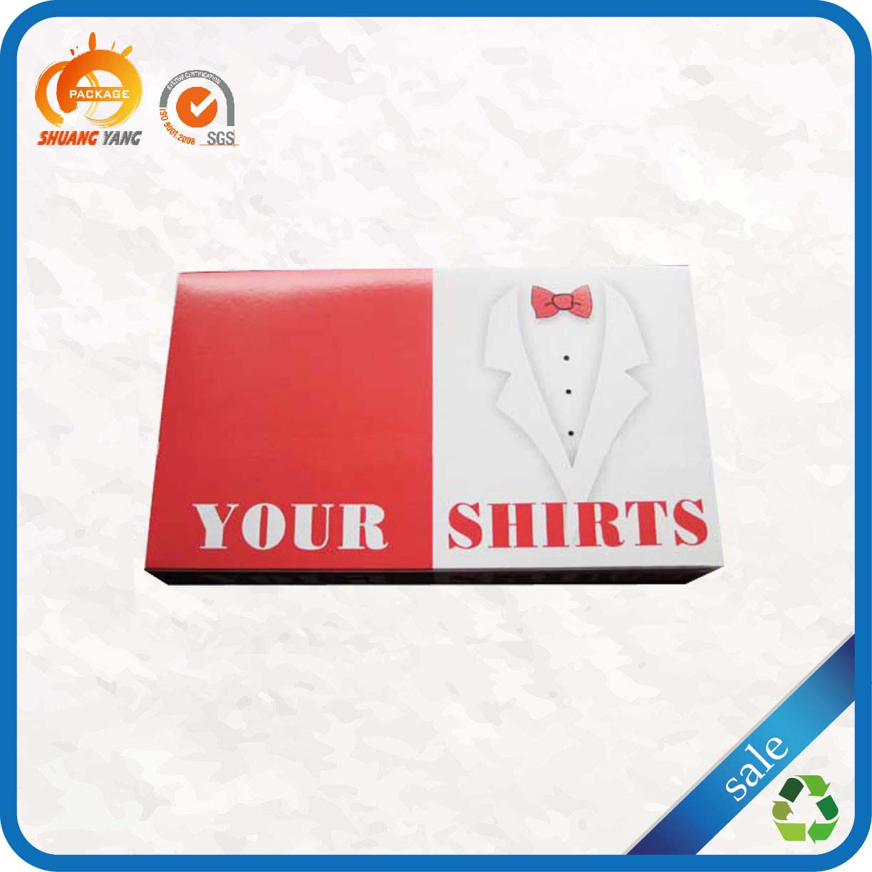 Value priced foldable creative paper shirt packaging box