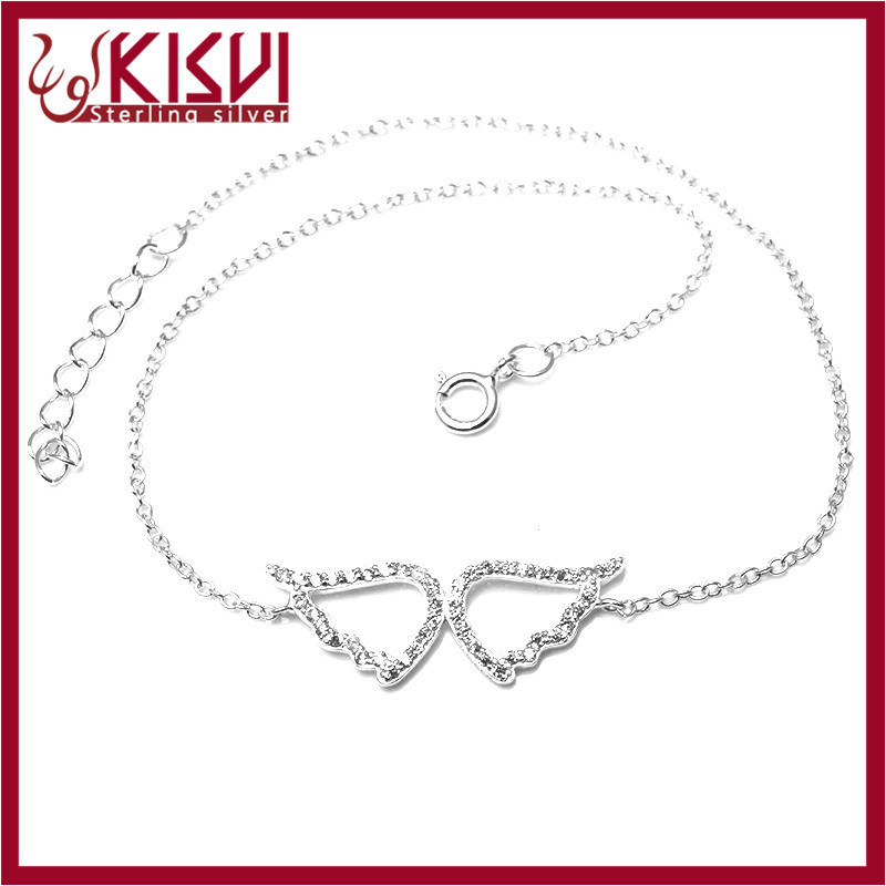 Angel wing bracelet wholesale 925 sterling silver jewelry Hot sale fashion Anklet