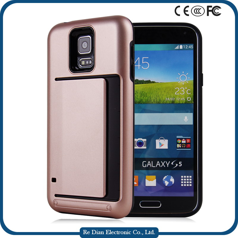 Durable Practical PC+ TPU Double Protective Dustproof Shockproof Cell Phone Case for Samsung S5