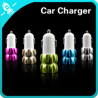 high quality safemore Lotus colorful fast phone battery dual port usb car charger