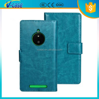 PU,Good material leather cell phone wallet case cover for nokia lumia 830
