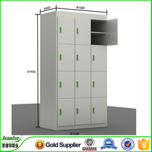 Guangzhou Jeanter high quality gray metal 6 tier school locker,steel 6 door gym locker,stackable locker