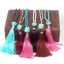 2017 Hot Sales Real Stone Tassel Jewelry Handmade Jewelry For Hand Made Jewelry