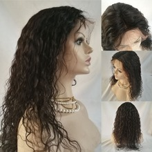 Unprocessed Virgin Brazilian Human Hair Full Lace Wig With Natural Baby Hair And Natural Hairline
