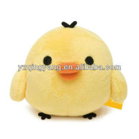 2013 hot sale delightful and funny plush toy small yellow chicken toy