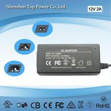 power supply 12V 2A power 12 volt 2 amps adapter size 5.5*2.1/5.5*2.5/3.5*1.0mm
