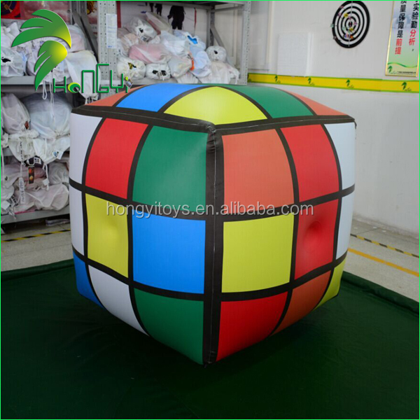 Custom Giant Inflatable Rubik's Cube Balloon , Magic Ball For Hanging Advertising