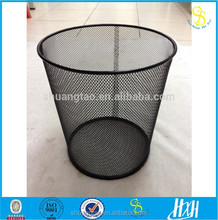 China supply Household Beauty Recyclable Metal Mesh Round WasteBasket / Waste Bin / Trash Can