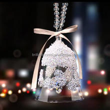 Wind Chime Crystal Glass bell Home Decorations Christmas hanging ornaments Feng Shui crystal swind chimes