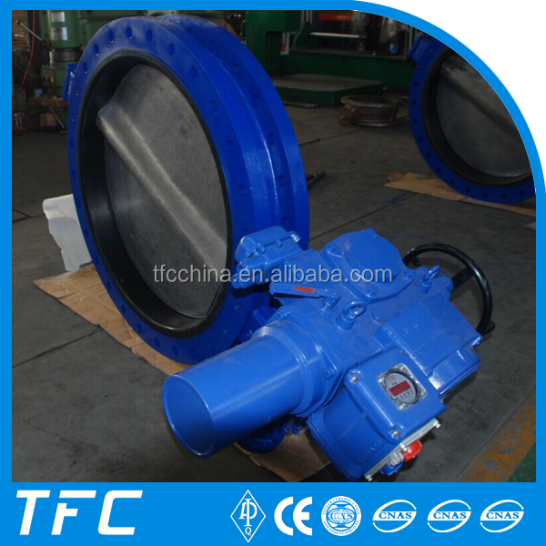 Factory price electric single butterfly valve wenzhou