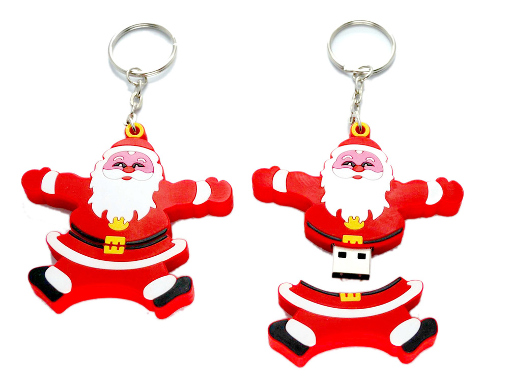 Custom PVC christmas git usb flash drive 512gb,lucky santa claus usb flash drive 500g,new year usb flash drive wholesale