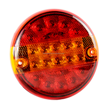 E4 Round Hamburger LED Trailer Lights Rear Truck Combination Tail Lamp Waterproof