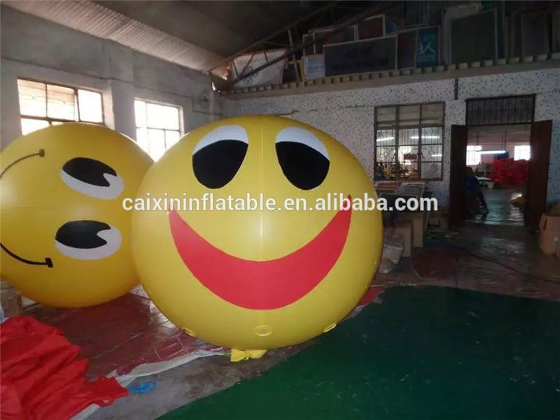 customize inflatable 2m dia inflatable helium smiley faces balloon