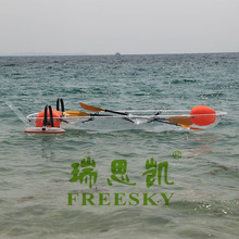 Transparent plastic small fishing boats, unbreakable polycarbonate clear lover kayaks