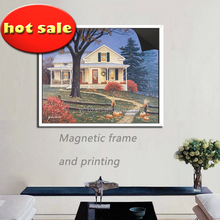 new model photo picture magnetic frame & print magnetic Village Fruit paintinga1013-83
