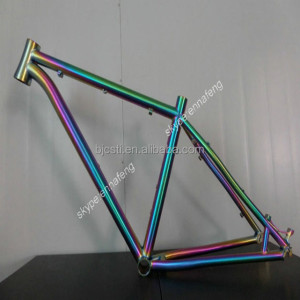 New design titanium alloy handbrushed titanium road bike frame with hot sale