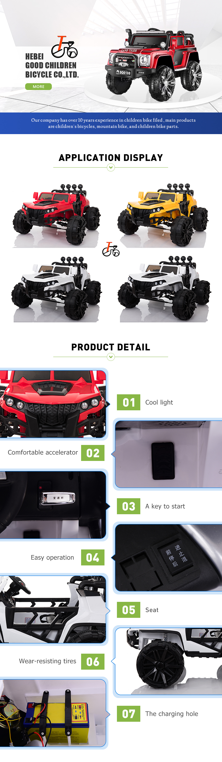 New Gift for 2019 Remote Control Child Electric Ride on Car
