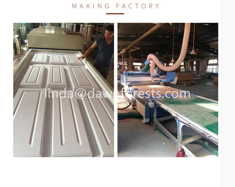 (Sample free)2018 hot sell PVC faced MDF cabinet door