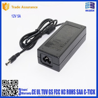 led universal charger 12v 5a ac dc adapter ul ce gs fcc kc saa 60w desktop led driver