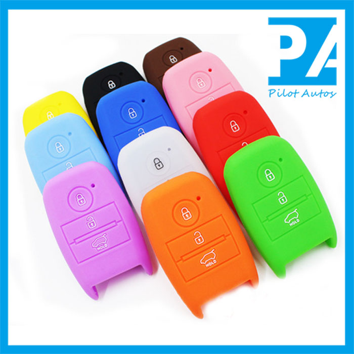 Silicone Car Key Cover For Kias Smart 3 4 Buttons Sportage Sorento Shuma Borrego K2 K5