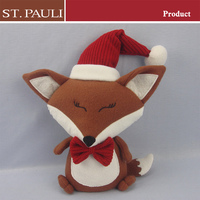 christmas holiday home decorative fox craft weighted fabric animal door stopper