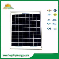 10w 17.5V 0.58A OEM/ODM polycrystalline solar panel wholesale pricesl made in China