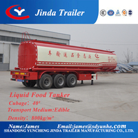 Liquid Food Tanker cotton trailer