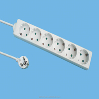 Jiande Zhongxing Germany 6 gang 16A 250V 1.5m extension socket without switch