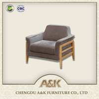 The Latest Cheap Solid Wood Sofa For Living Room Furniture one seat Wooden Sofa