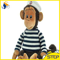 2016 Factory Custom Top Quality Stuffed Plush Toy Monkey with Hat ST163165