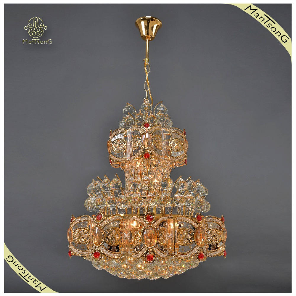 Arabic Style Decorative Large Crystal Chandelier Pendant Light, Hanging Luxury Chandelier