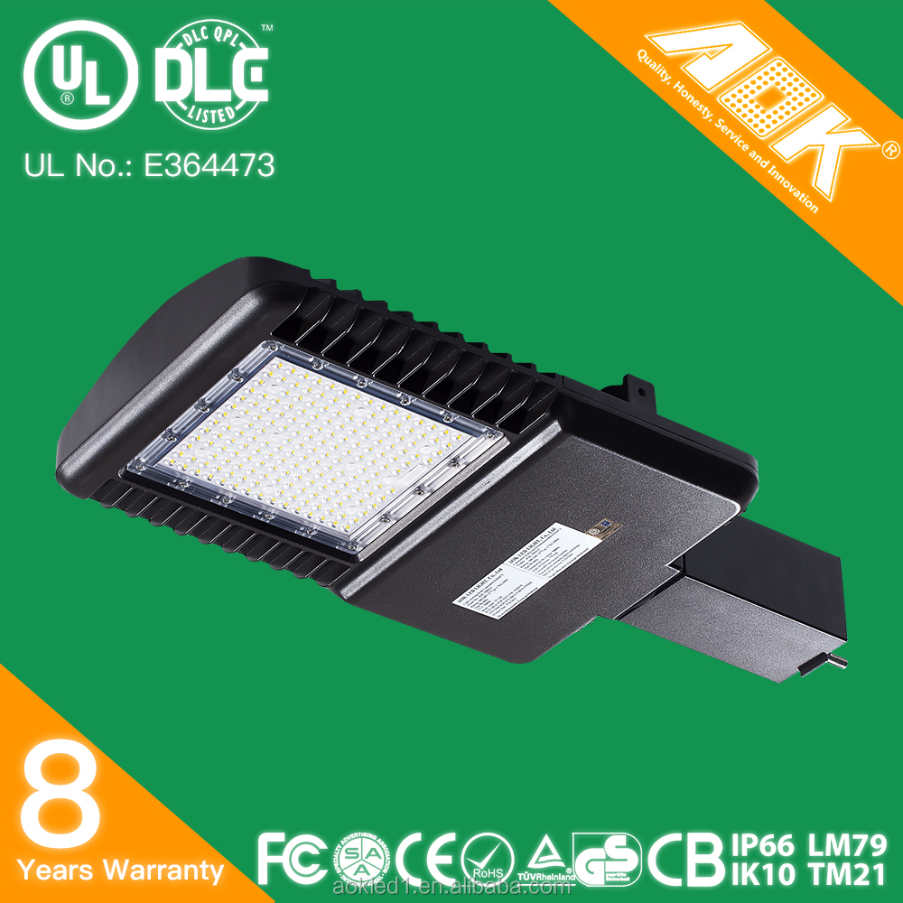 UL cUL DLC outdoor IP66 waterproof 1000W HID replacement AOK 150w 265w LED parking lot lighting