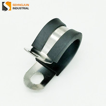 New design automotive rubber lined clips / rubber coated metal belt round pad cable hook clamps