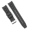 3 Beads Curved End Silicone Rubber Watch Band for Watch