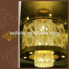 Beautiful decorative fancy cheap fashion colored glass chandeliers for dinning room