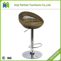 Unique design elegant strongly chair rattan bar Chair (Mawar)