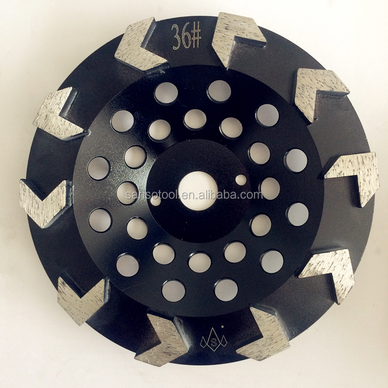 Metal Bond Diamond Grinding Disc Arrow Segments Concrete Tools