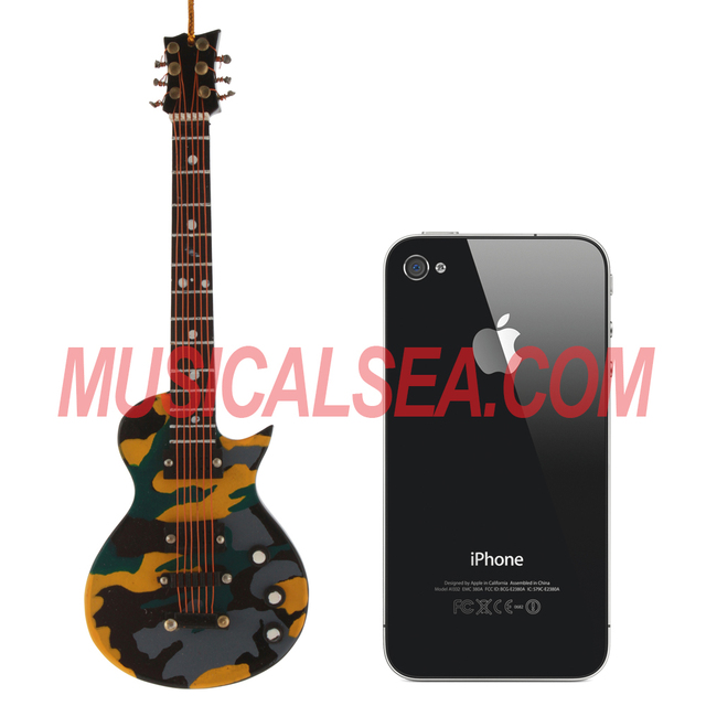 Miniature camouflage shaped electric guitar decoration musical instrument art crafts