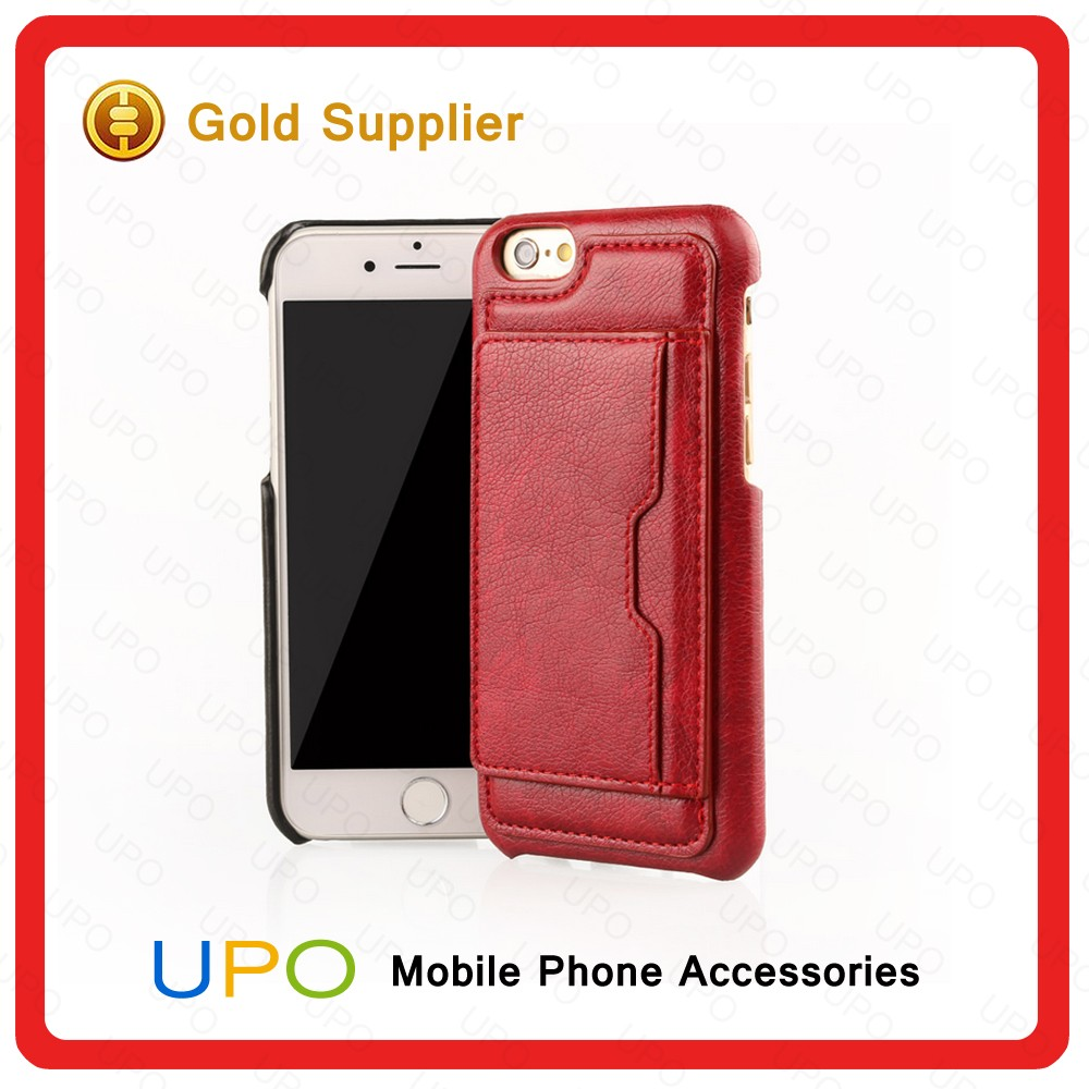 [UPO] Multifunction Genuine Universal Leather Cell Phone Covers Cases for iPhone 6 with Card Slot