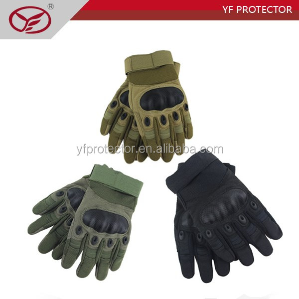 Army outside full finger combat anti stab nylon tactical gloves